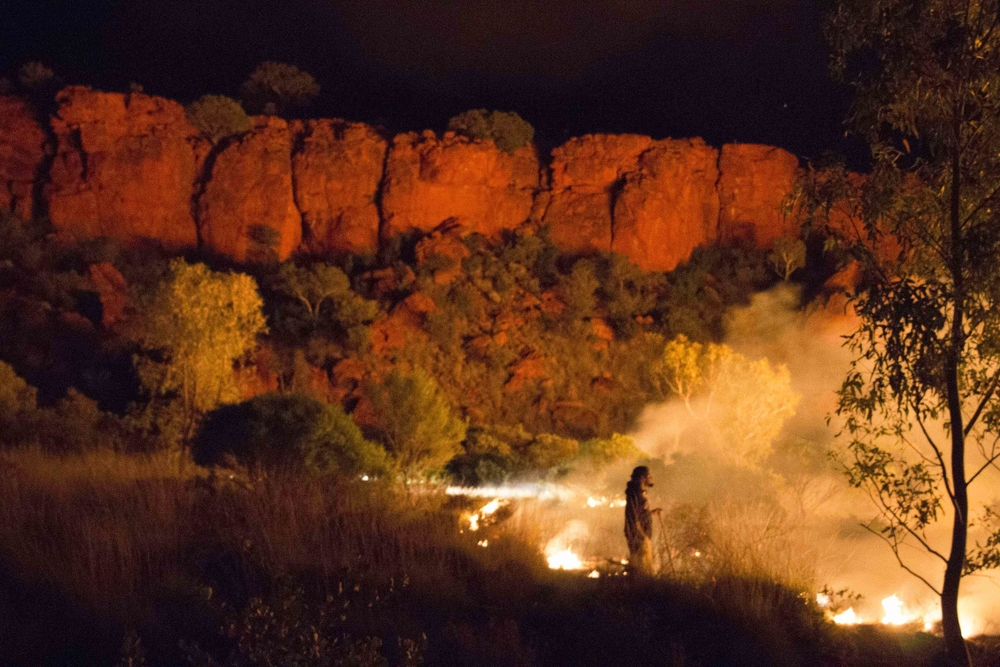 Jigalong ranger night burning