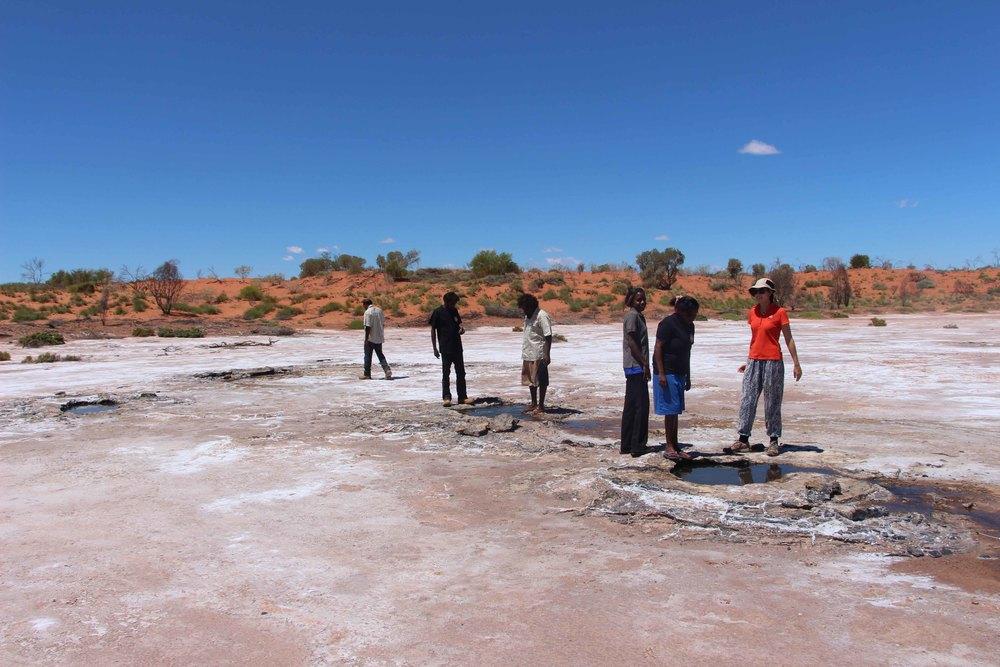 Punmu men and women rangers at Wilara