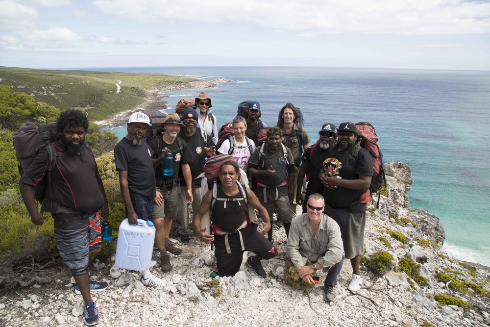 Leadership group on the Cape to Cape hike