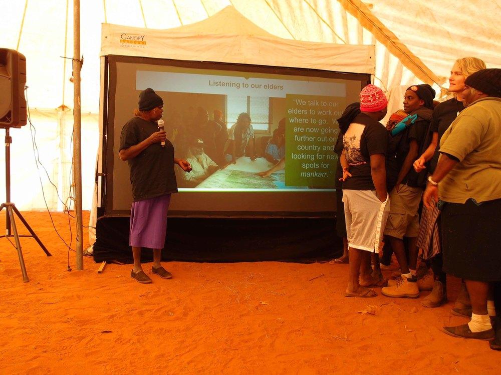 Martu giving a presentation