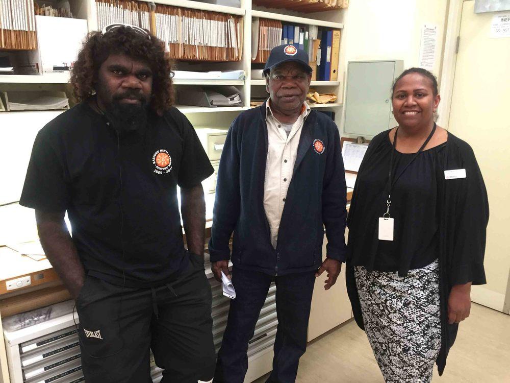 Martu rangers visit QLD museum