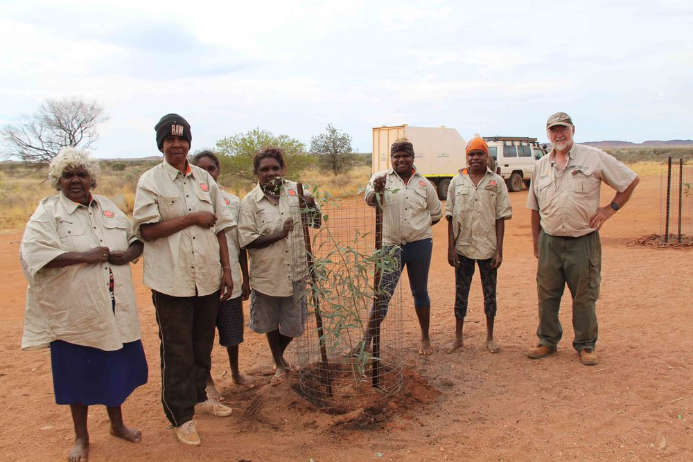 wanti Rangers assisting Bob from Greening Australia