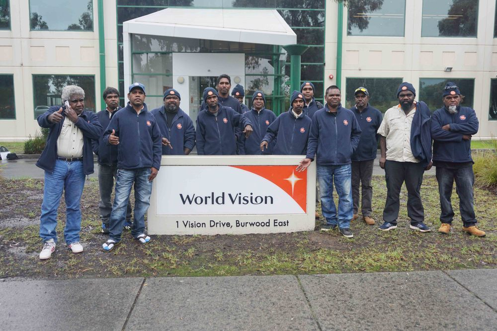 Leadership group at the World Vision office