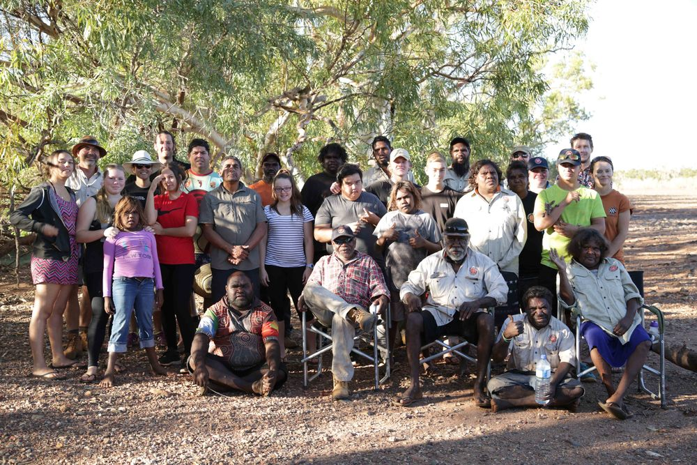 oung Mob and Leadership participants at Skull Springs