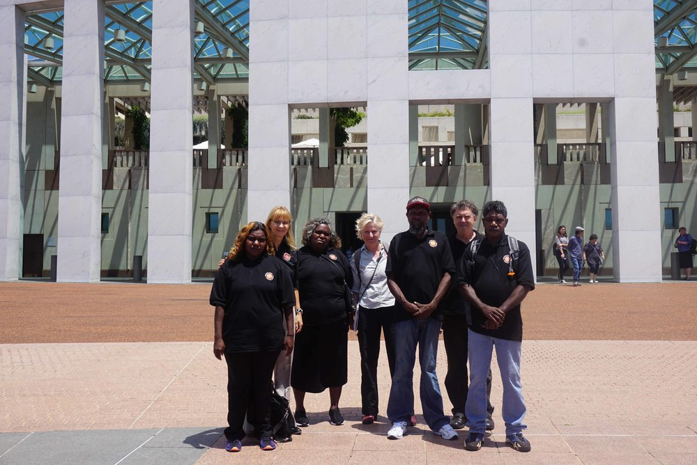 Martu outside of parliament house