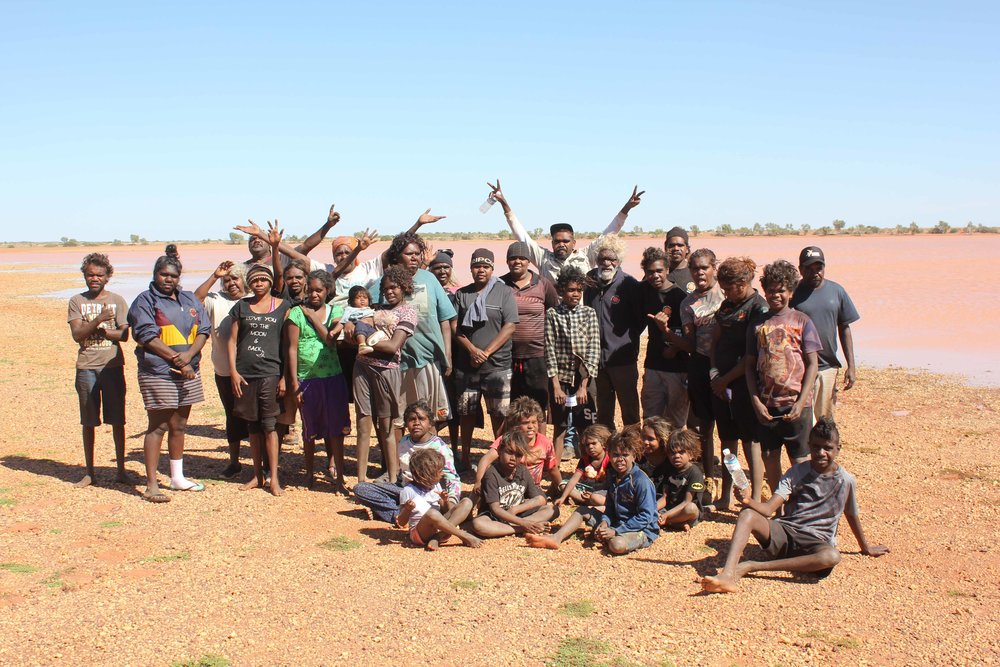 Students out on country with the Parnngurr rangers and elders.