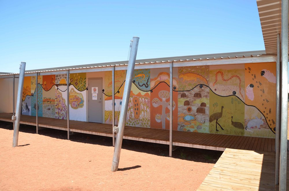 Parnngurr ranger station painted by the rangers and community members