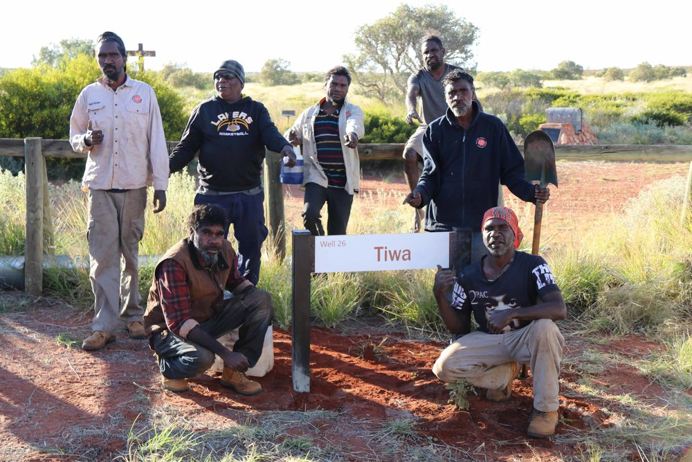 Parnngurr rangers installed Tiwa (Well 26) sign