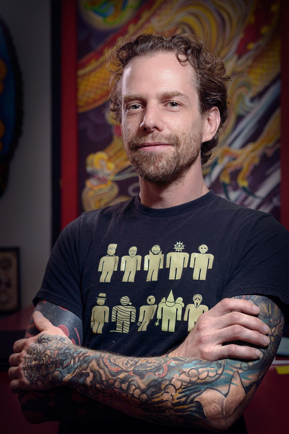 Corey - Tattoo Artist10+ years experienceCorey has a broad range of ability for many styles of tattooing.  He is fair, courteous, open to ideas, and always happy to do a tattoo!Corey specializes in both large and small designs, bold color, black & grey, and realism.
