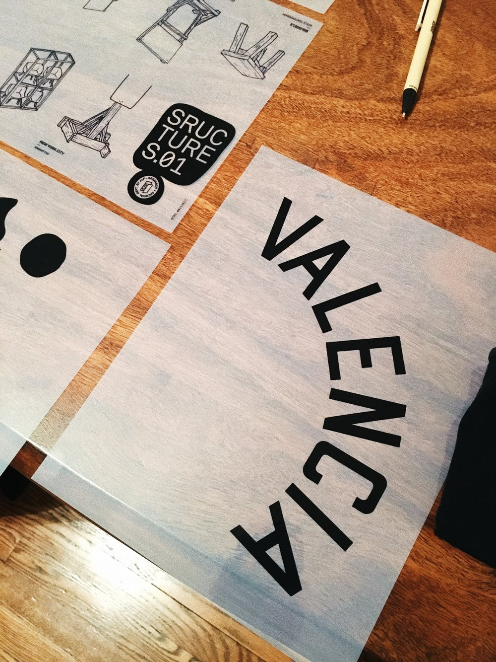 VALENCIA crewneck print designed by Jacobo Sánchez