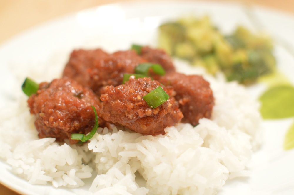 turkey meatballs over rice