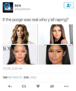 Purge Tweet