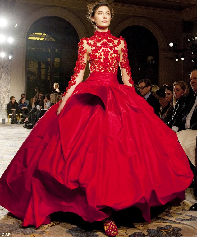 Marchesa Fall 2012 - Red Ball Gown — Gowns & Roses