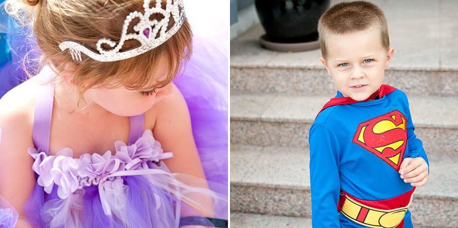 halloween superman + a purple princess ==> tracy-larsen.com/blog