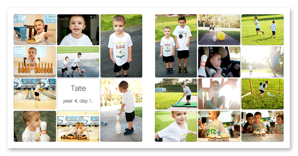 digital project life week 2 - simply white photo template collection ==> tracy-larsen.com/blog