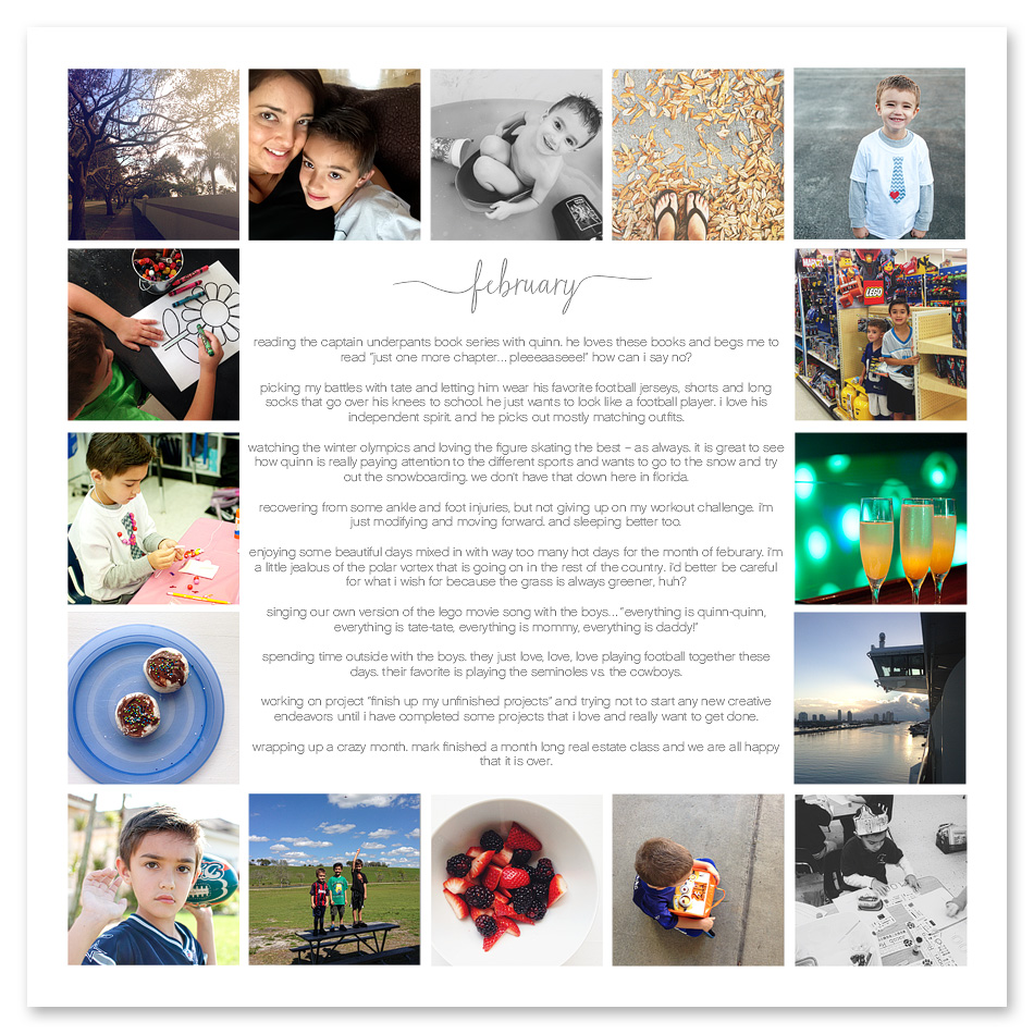 digital project life template using simply white the squares v2 - 12x12 photo collage templates ==> tracy-larsen.com/blog