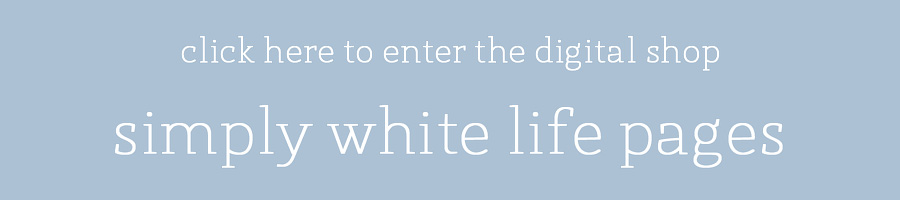 simply white life pages