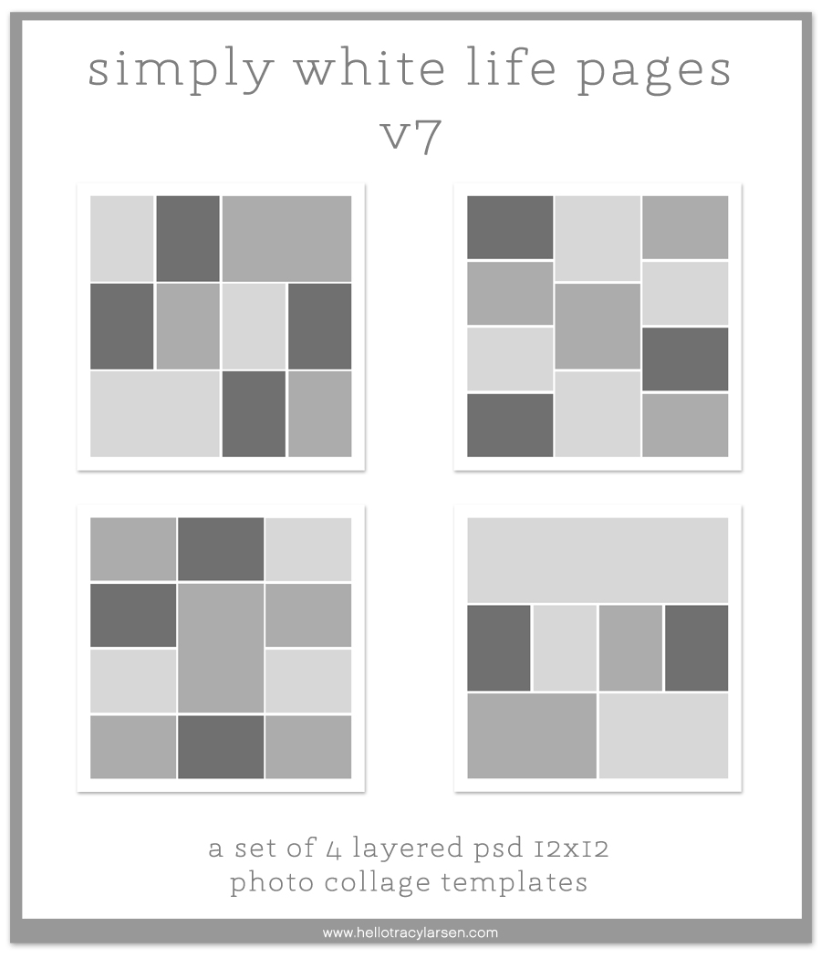 simply white life pages v7 - 12x12 digital page templates for project life, pocket scrapbooking and digital memory keeping  >>>  hellotracylarsen.com