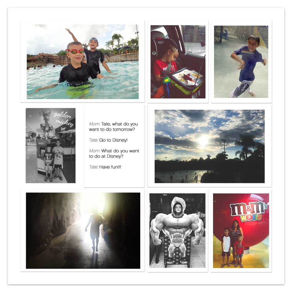 tracy larsen's digital project life pages 2015 - week 33 - Vacation Pages ==> hellotracylarsen.com