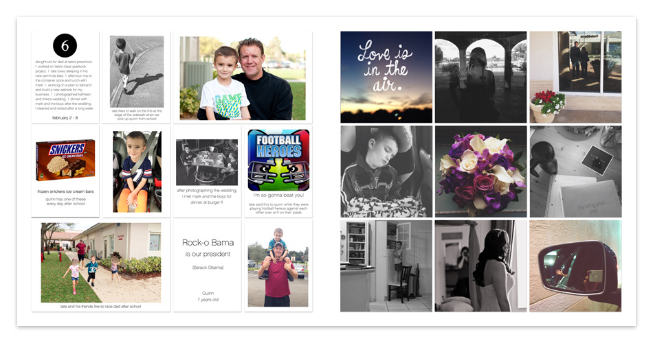tracy larsen's digital project life pages 2015 - week 6 ==> hellotracylarsen.com