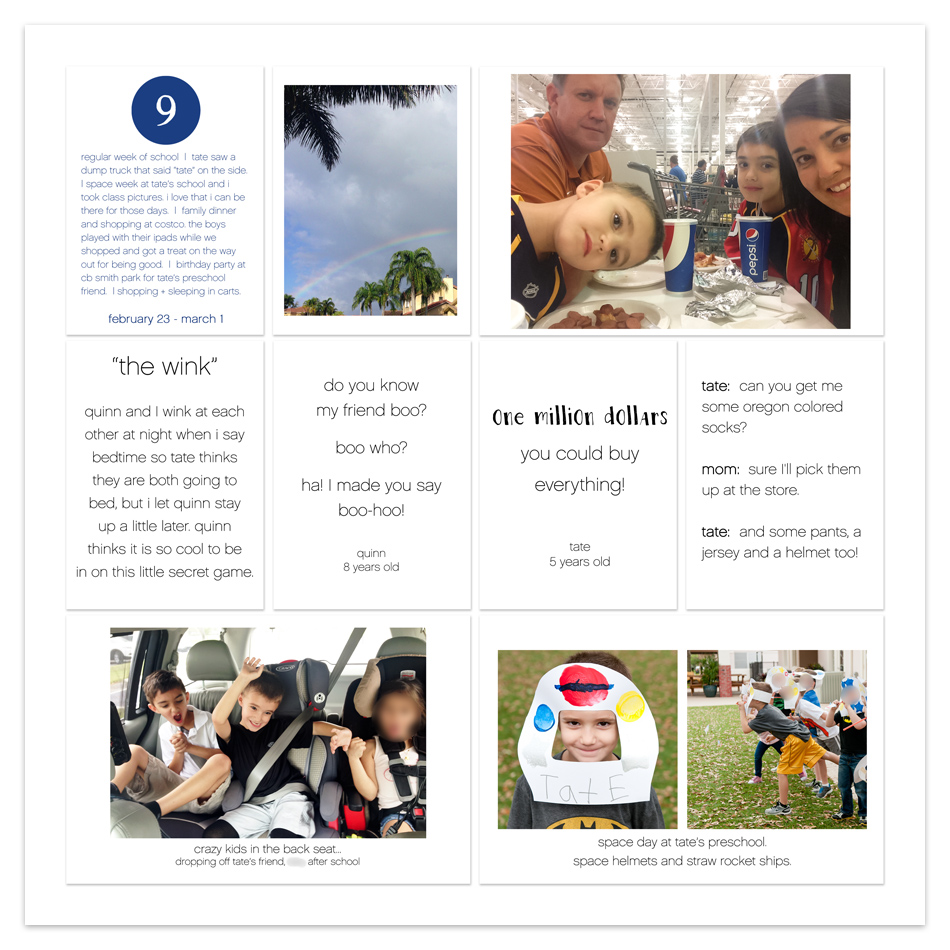 tracy larsen's digital project life® pages 2015 - week 9 ==> hellotracylarsen.com