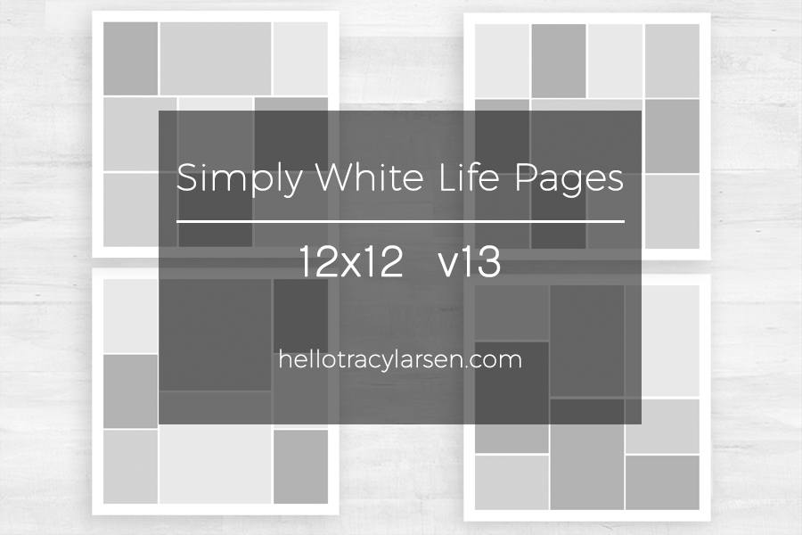 Simply White Life Pages v13 ==>> 12x12 digital page templates for project life, pocket scrapbooking and digital memory keeping >>> hellotracylarsen.com/shop