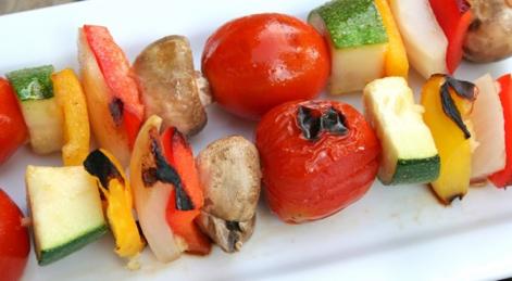 Grilled Vege Kebabs