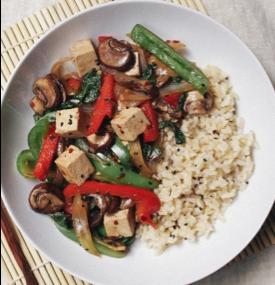 Mushroom, Tofu and Capsicum Stir Fry