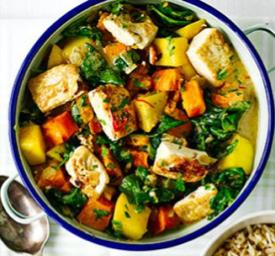 Pumpkin, Spinach, Ginger, Tofu Stir-fry