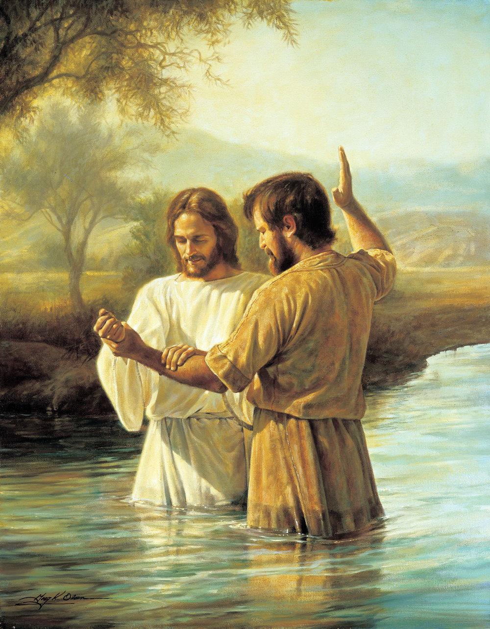 john the babtist babtizes Jesus