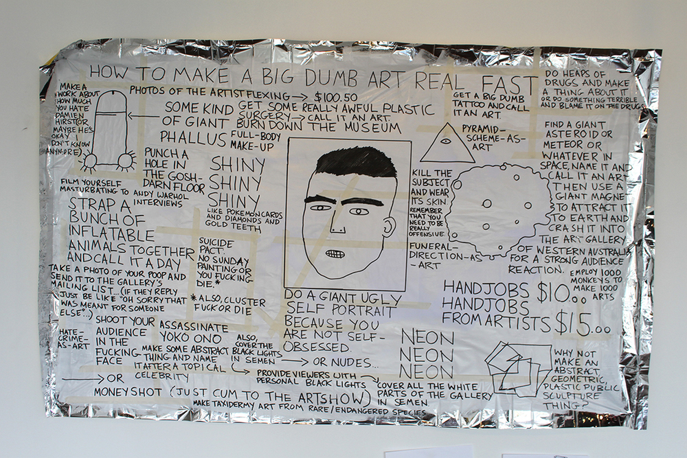 1. Kieron Broadhurst, How to make a Big Dumb Art real fast, mixed media, 180cm x 80 cm, 2014. Courtesy the artist-web.jpg