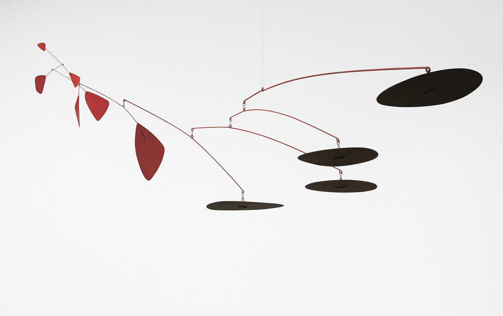 Four Black Bottoms and Six Reds1957 by Alexander Calder. Images via NGV