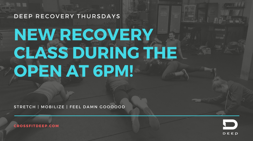 Recovery Class @ 6pm Thursday's during the Open!.png