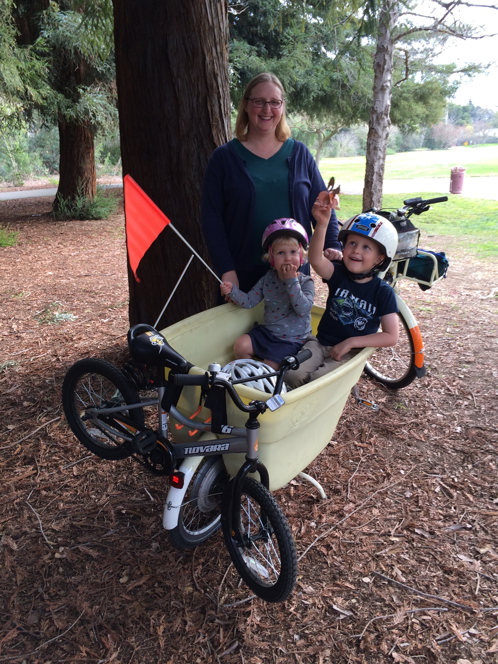Jenn, Becky, Danny and their Madsen bike