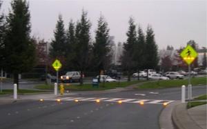 in-roadway blinky lights
