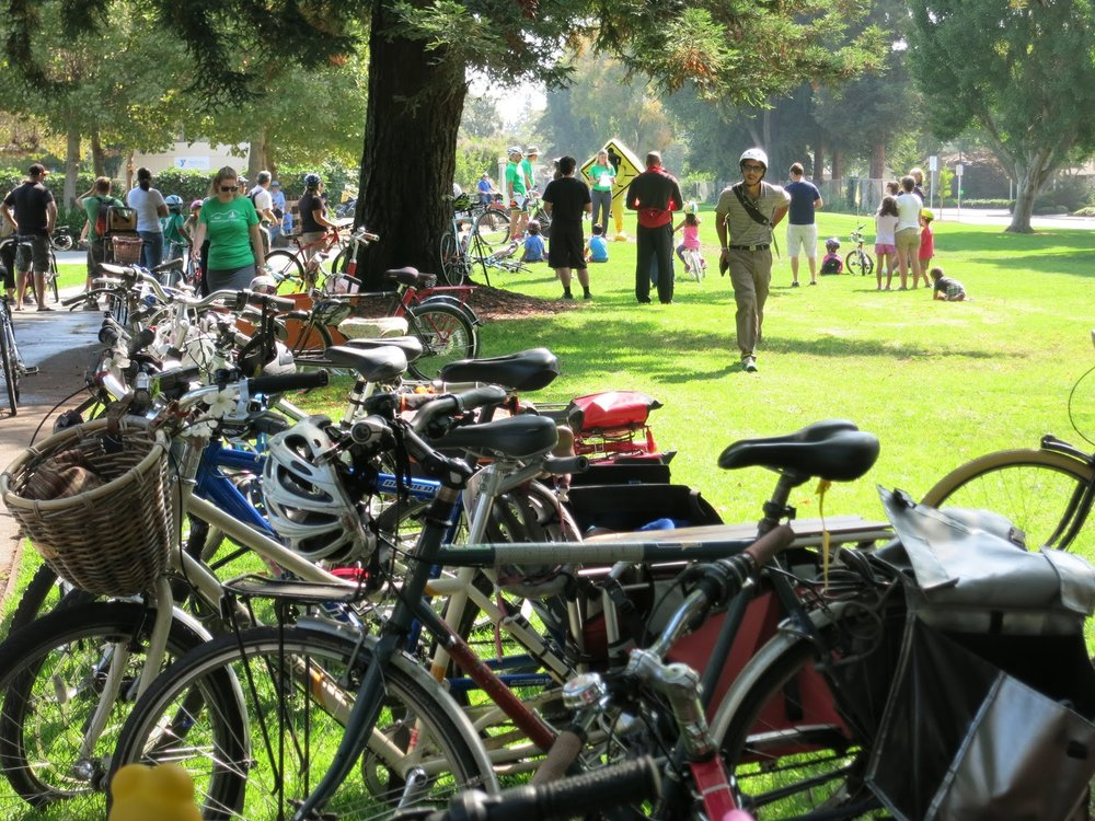 Bikes at the bike parking - Photo by Chris Brunn