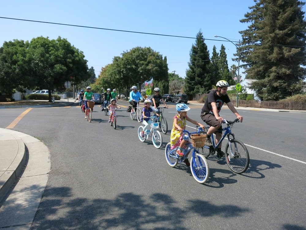 Riding down Castro Street north of Graham Middle School - Photo by Chris Brunn
