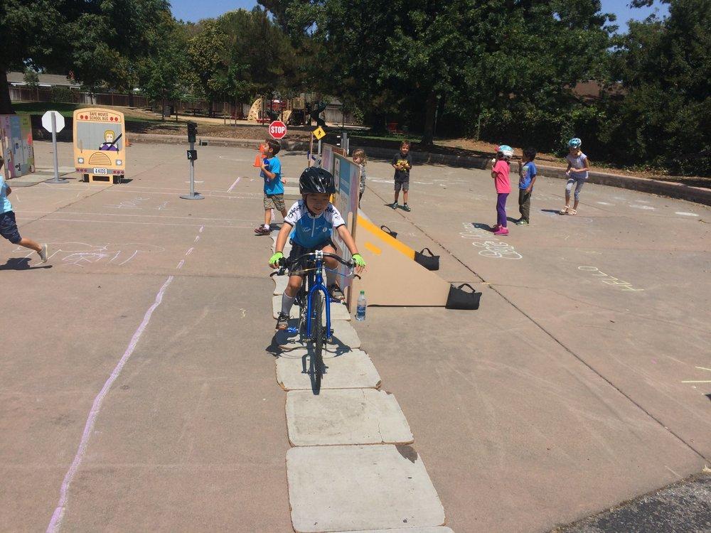 Kids enjoy the Bike Rodeo - Photo by Cherie Walkowiak
