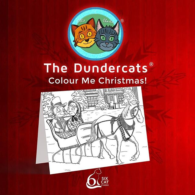 SixCatStudios.myshopify.com  The Dundercats 'Colour Me Christmas' greetings cards set  Make Christmas a little more colourful with The Dundercats 'Colour Me Christmas' greetings cards!  A great way to learn about some of the most beloved Christmas songs and carols.  Carols included: • Joy to the World •  Silent Night • Good King Wenceslas • We Wish You a Merry Christmas • Jingle Bells • We Three Kings • Hark! The Herald Angels Sing • I Saw Three Ships • O Come All Ye Faithful • Away in a Manger • While Shepherds Watched their Flocks by Night • Deck The Halls  There are twelve greetings cards in the set.  Cards are A6 size and have a weight of300gsm, great for colouring on.  Each card comes with its ownhigh quality white envelope.