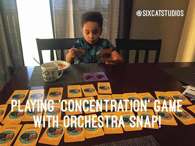 Playing 'Concentration' game with Orchestra SNAP! Cards ❤️👏🏻