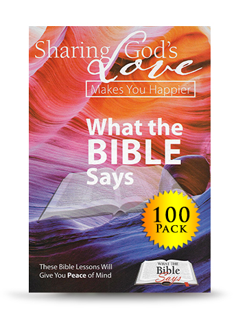 What The Bible Says (100 Book Set) - For every donation of $100, UPMI will send you and a prisoner or ex-offender a copy of What The Bible Says (100 Book Set).