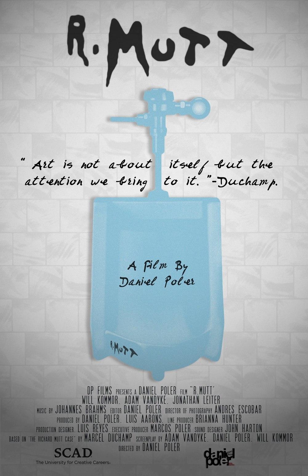 R.Mutt poster design by Daniel Poler.