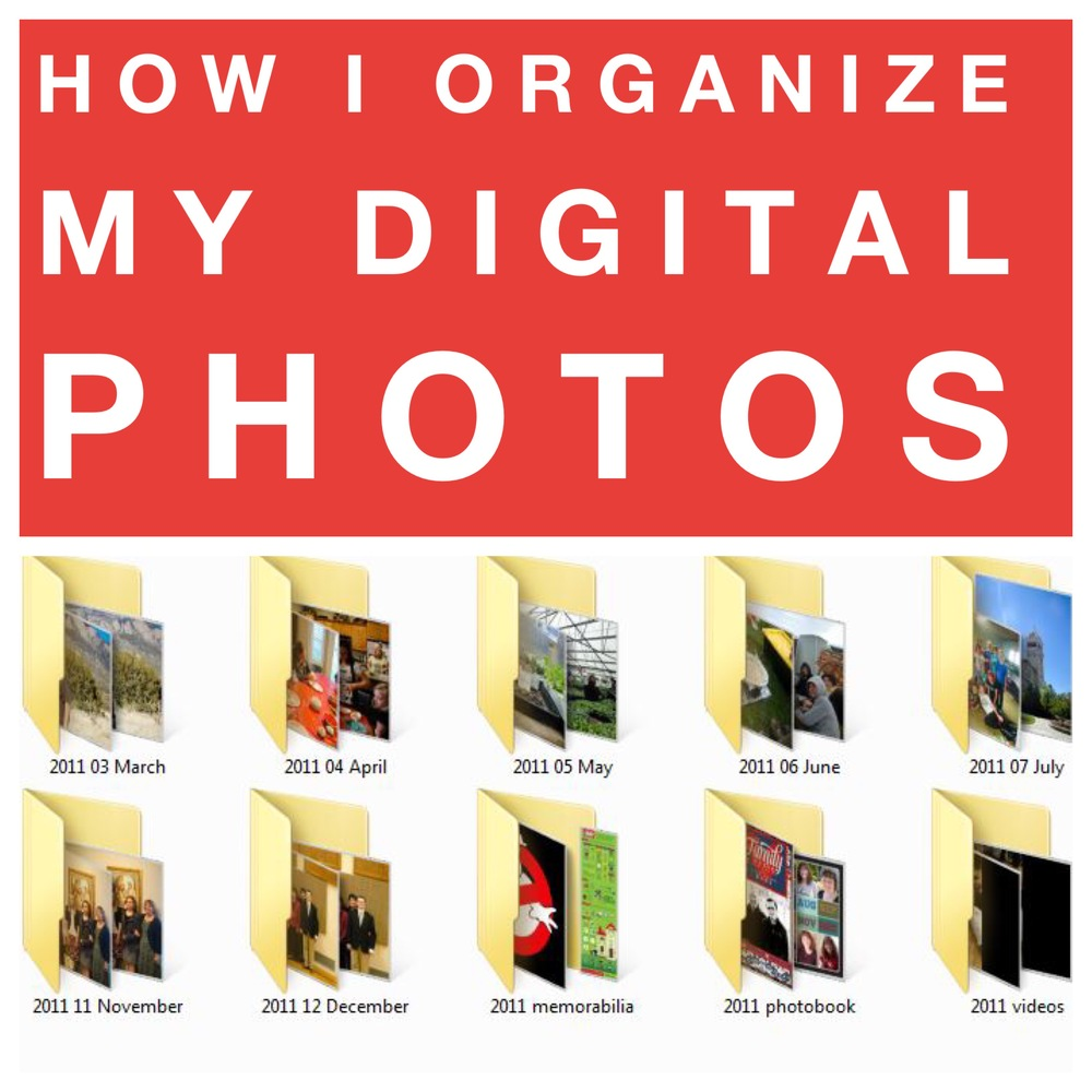 To photos organize how digital