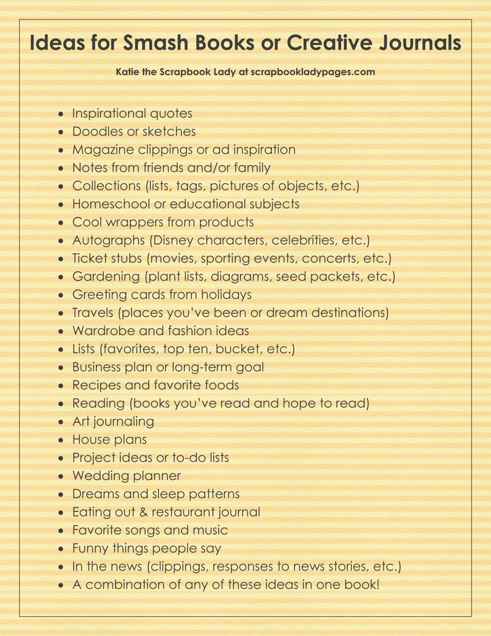 Scrapbook ideas list - If You Are Looking For More Ideas On How To Use These Clever Little Books Or Any Type Of Notebook Scrapping Be Sure To Save This List