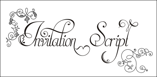 Invitation script a beautiful font katie the creative lady so when i was invited by paulo w from intellecta design creator of invitation script to try out this beautiful font i jumped at the chance stopboris Images