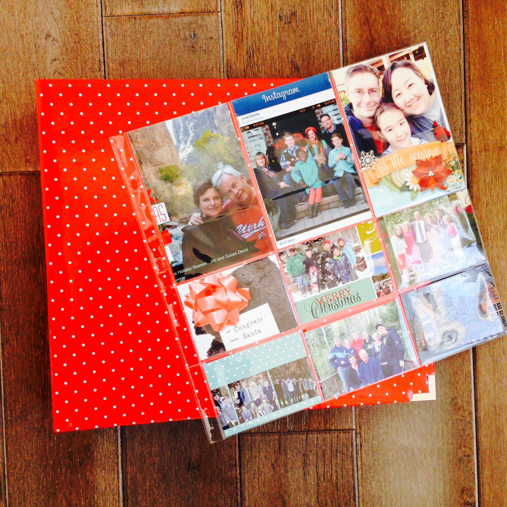 Using Project Life pages for Christmas Cards — Katie the Creative Lady