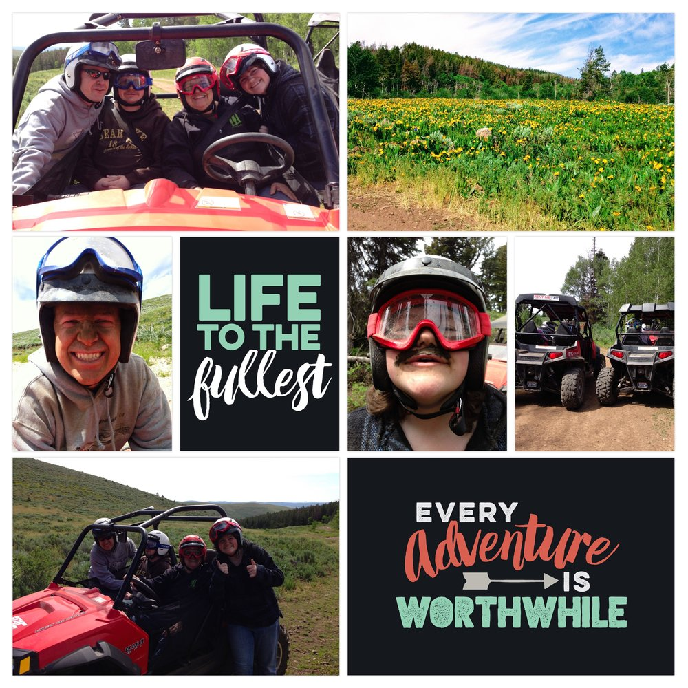 2014 ATV trip in Bear Lake. Page created in Project Life App. Cards from Explore Edition (in-app purchase)
