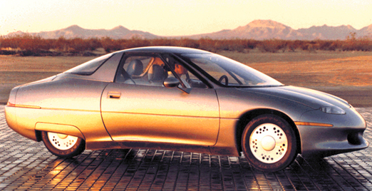 GM Impact EV, later the EV-1, set a speed record.