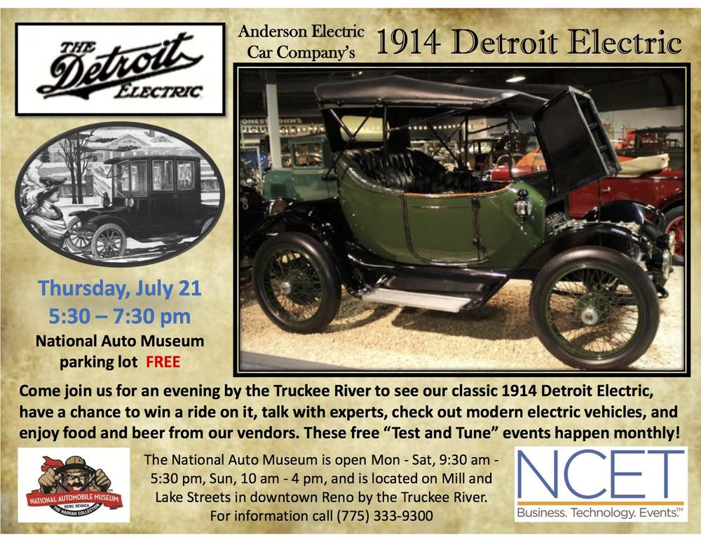 What better way to learn about the history of the electric vehicle, but during a warm, clear summer evening along Reno's Truckee River? Bring the entire family!