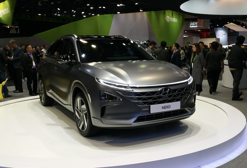 Hyundai unveiled its Nexo fuel-cell EV at CES 2018.